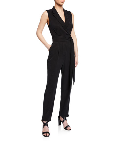 Erica Sleeveless Straight-Leg Jumpsuit