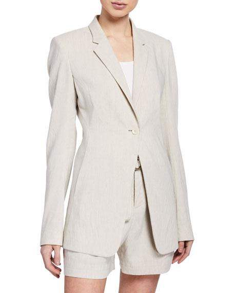 Hillary One-Button Linen Jacket