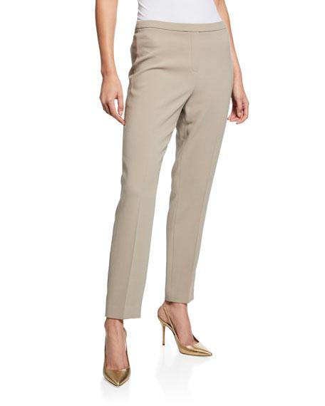 Marcia Straight-Leg Crepe Ankle Pants