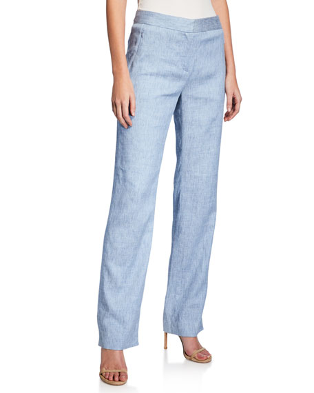 Elie Tahari Pants LEENA STRAIGHT-LEG PANTS