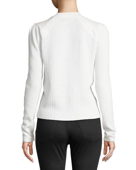 Simi Wool Button-Shoulder Raglan Sweater