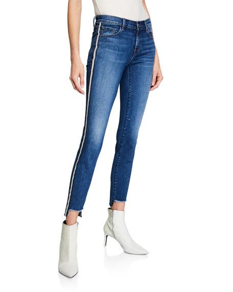 J Brand 811 Mid-Rise Skinny Step-Hem Jeans w/