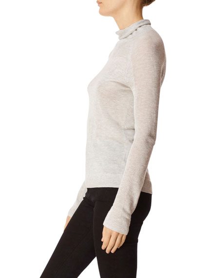 Carlyn Mock-Neck Long-Sleeve Sweater