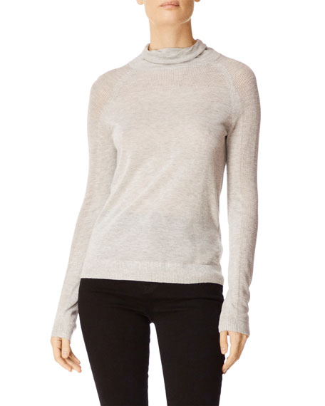 J Brand Carlyn Mock-Neck Long-Sleeve Sweater