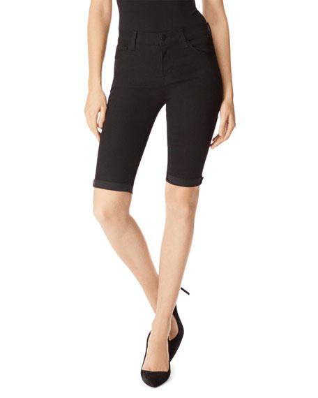 811 Mid-Rise Skinny Bermuda Shorts in Vanity