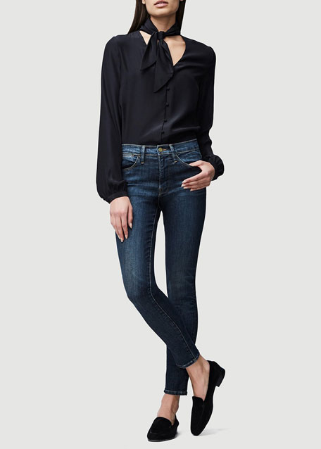 FRAME Le High Distressed Skinny Jeans, Harvard