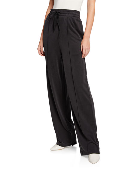 alexanderwang.t Cupro Jersey Wide-Leg Pants