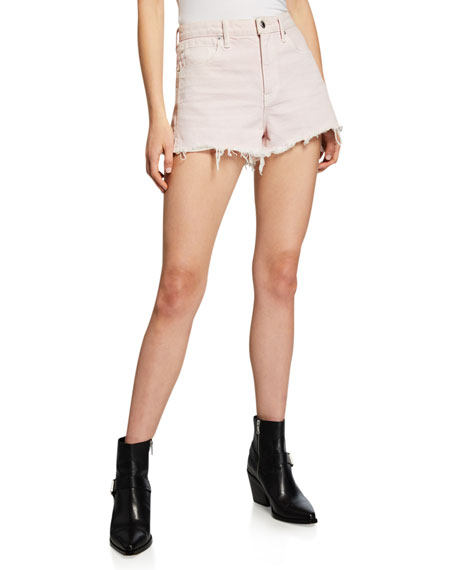 alexanderwang.t Bite High-Waist Cutoff Denim Shorts