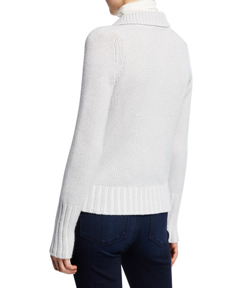 Marion Button-Front Knit Cashmere Cardigan