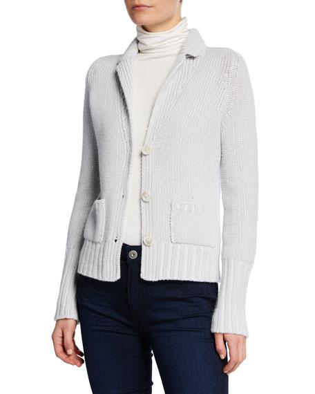 Iris Von Arnim Marion Button-Front Knit Cashmere Cardigan