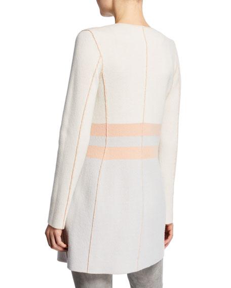 Cashmere Bicolor Reversible Long Cardigan