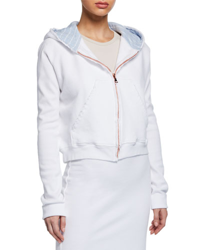 Cotton Fleece Zip-Front Hoodie