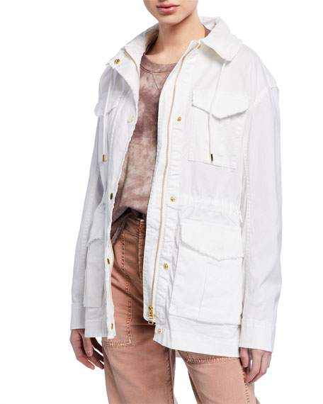 ATM Anthony Thomas Melillo Frayed Zip-Front Field Jacket