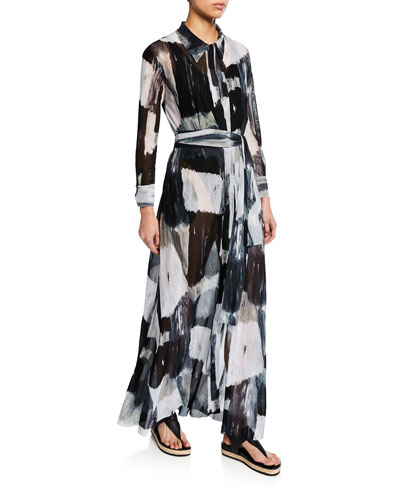 NK Printed A-Line Shirt Dress