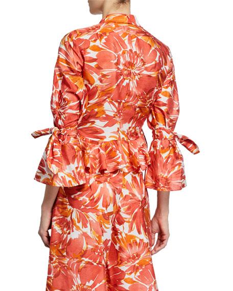 Reena Floral Tie-Front Top