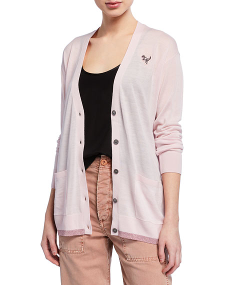 Coach Essentials Oversized Button-Front Cardigan
