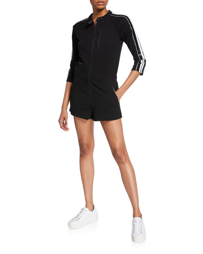 Gia Short Moto Jumpsuit