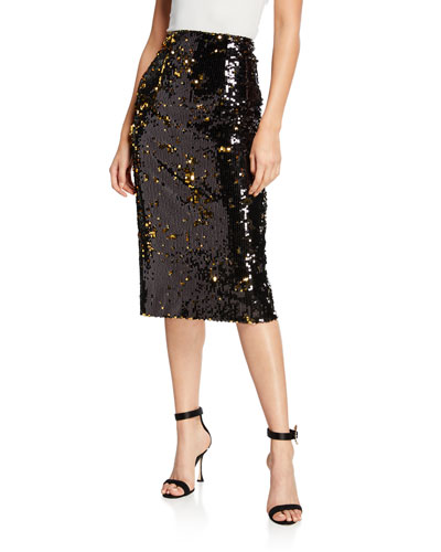 b085e8031 Sequined Midi Pencil Skirt Quick Look. Milly