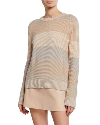 Autumn Striped Colorblock Sweater