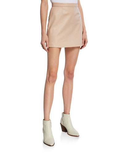 Logan Leather Short Skirt