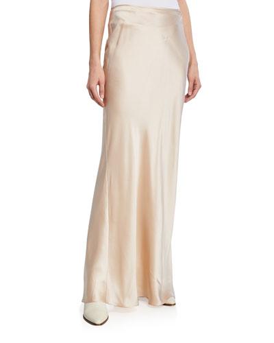 Valentina Long Silk Skirt