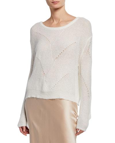 Violet Boat-Neck Long-Sleeve Sweater
