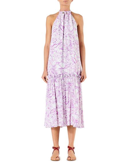 Tibi Dresses ISA TOILE SLEEVELESS TIE-NECK DRESS