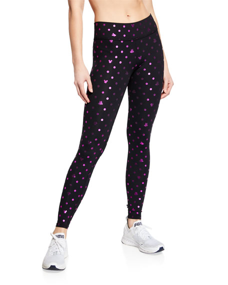Terez Foil Mickey Mouse® Printed Tall Band Leggings