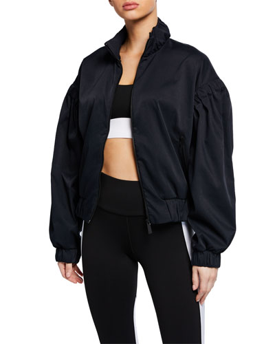 Werl Cinched Drop-Shoulder Activewear Jacket
