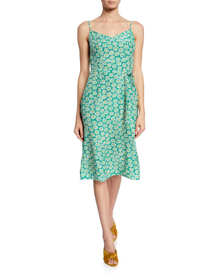 Hvn Dresses LILY FLORAL-PRINT SLIP DRESS