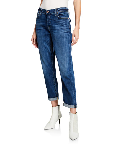 Josefina Mid-Rise Cropped Boyfriend Jeans