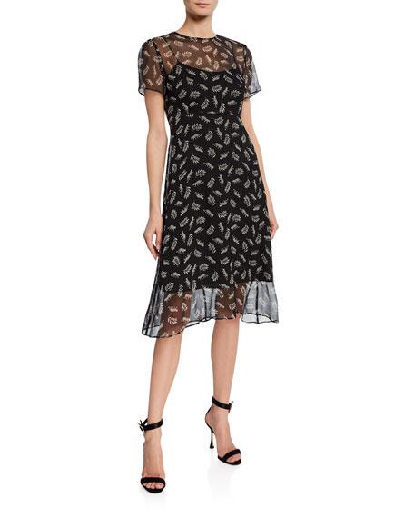 Hvn Dresses LINDY SILK CHIFFON DRESS