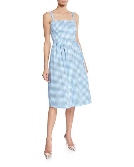 Hvn Dresses LAURA COTTON GINGHAM DRESS
