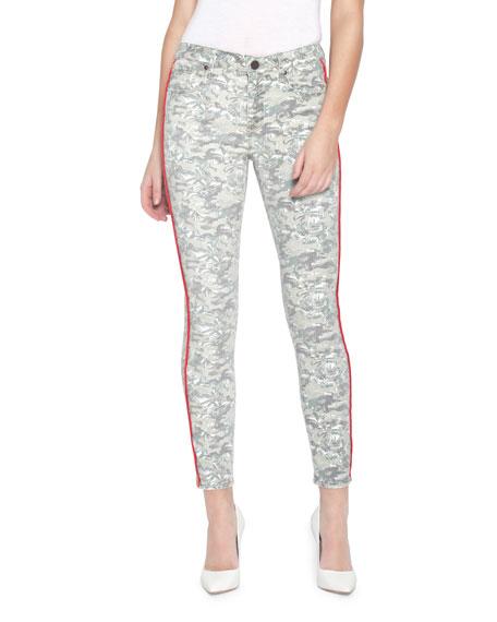 Parker Smith Jeans AVA PRINTED SKINNY JEANS W/ SIDE STRIPES
