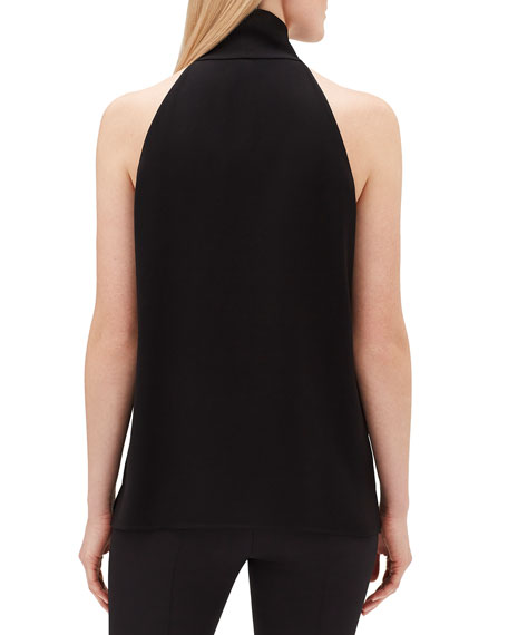 Amore Tie-Neck Finesse Crepe Blouse