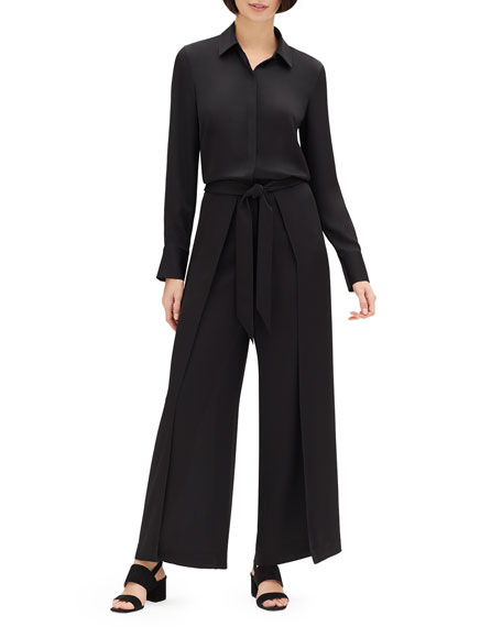 Lafayette 148 New York Carlisle Cloth Skyline Jumpsuit