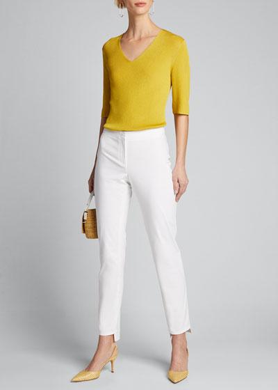Manhattan Fundamental Bi-Stretch Slim Pants w/ Step Hem