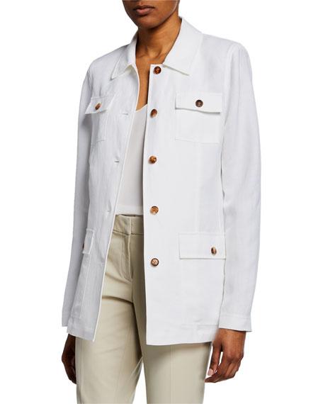 Tamaya Metropolis Linen Button-Front Jacket