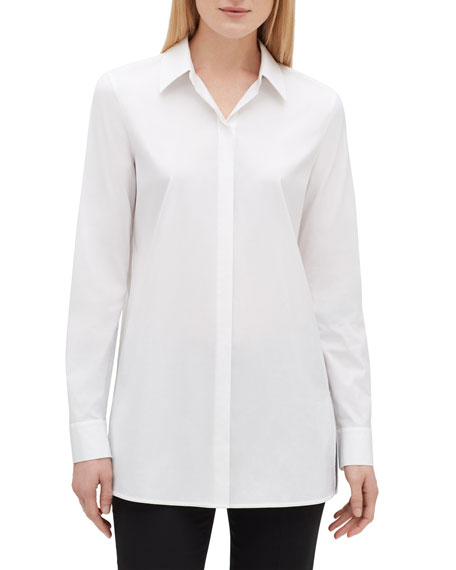 Lafayette 148 New York Minnie Button-Down Excursion Stretch