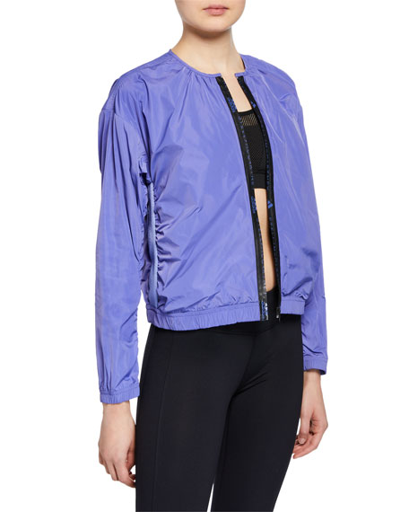 adidas by Stella McCartney Collarless Zip-Front Logo Track