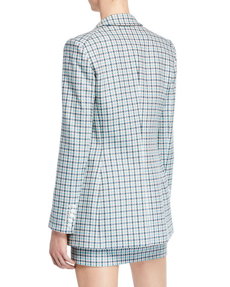 Moroso Houndstooth Check Dickey Jacket