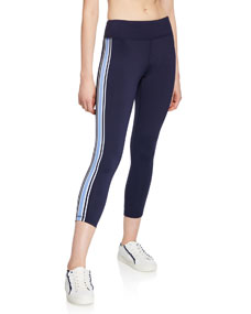 Side Stripe 7/8 Performance Leggings by Tory Sport