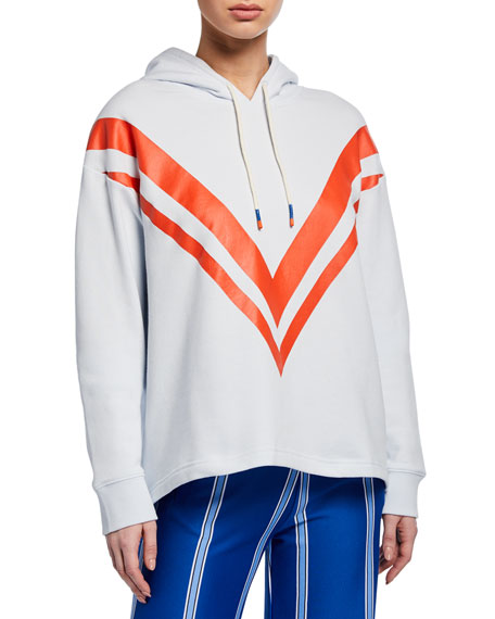 Tory Sport Tops FRENCH TERRY CHEVRON HOODIE