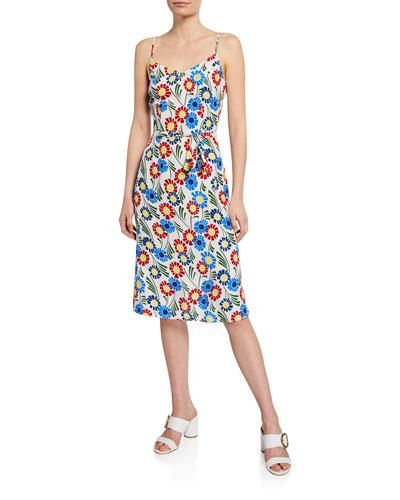 Lily Floral-Print Slip Dress