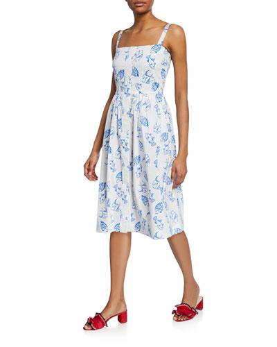 Laura Printed Cotton Dress