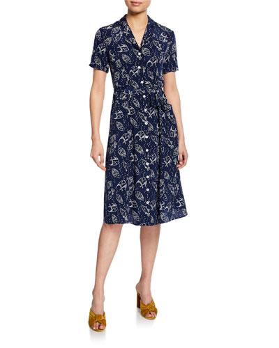 Maria Button-Down Pajama Dress