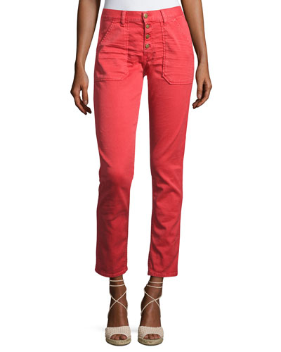 ba&sh Cmarc High-Rise Pants  Red