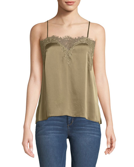 CAMI NYC THE SWEETHEART CHARMEUSE CAMI WITH LACE