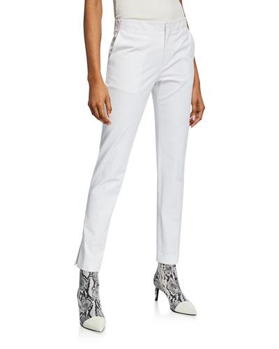 Slim Cotton Ankle Pants