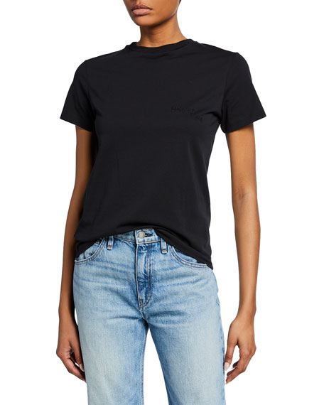 Helmut Lang Stacked Embroidered Logo Tee